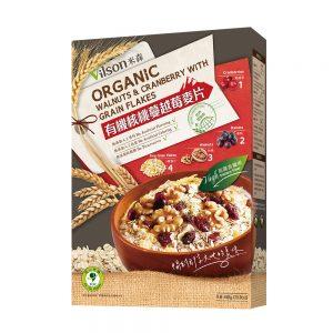 米森 | 有機核桃蔓越莓麥片 (450g) (盒裝)